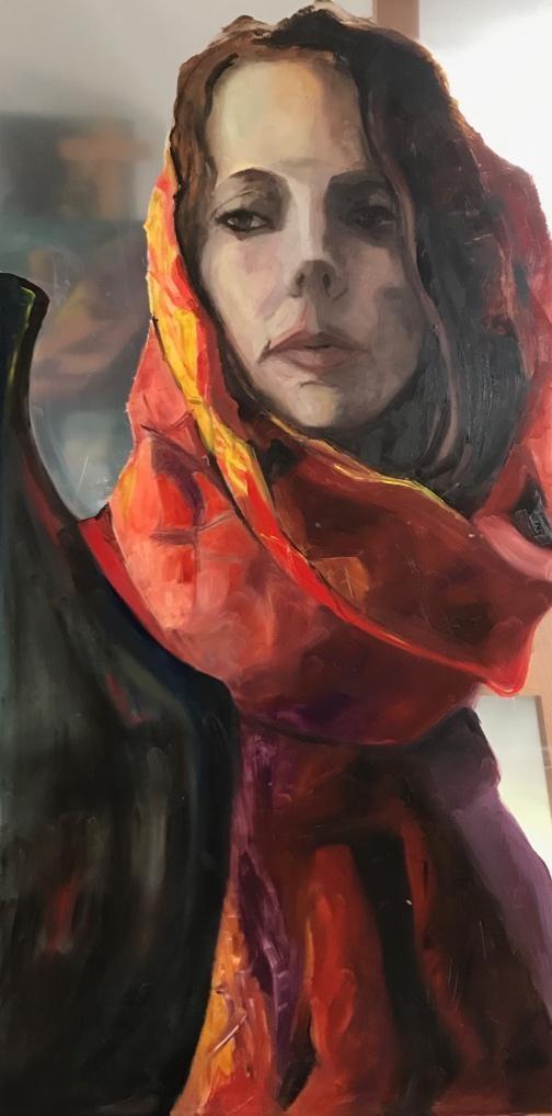 Vrouw met Rode Sari I